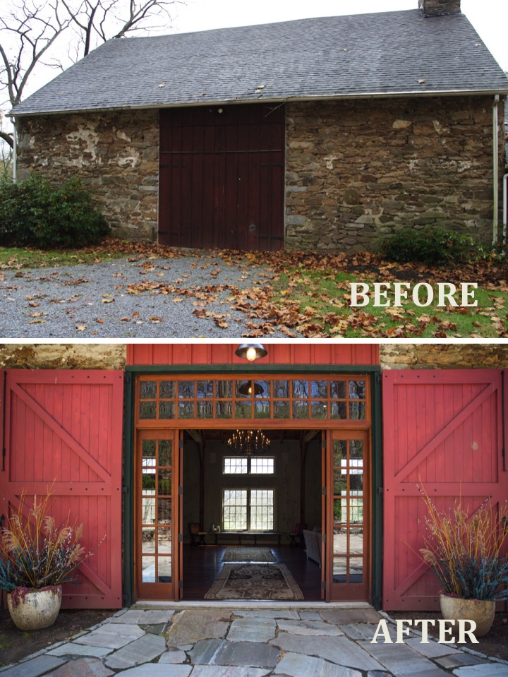 1573 Camp Linden Rd Barn door before and after